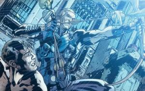 Dystopian Spider-Man and Hawkeye